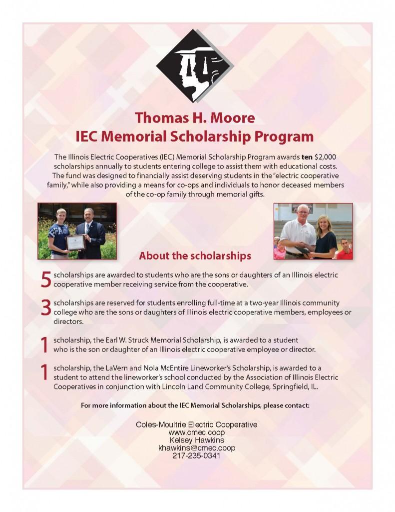 Thomas H. Moore IEC Memorial Scholarship Program
